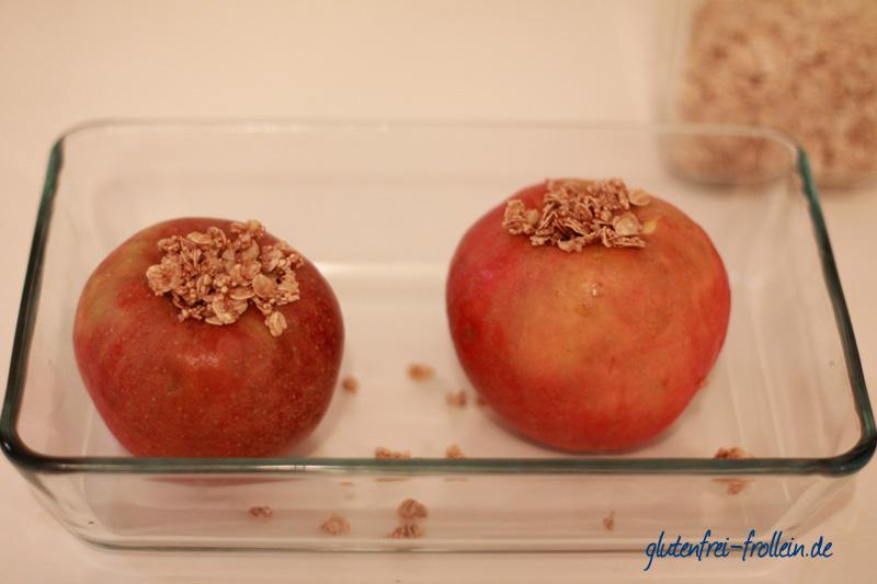 Bratäpfel in der Form