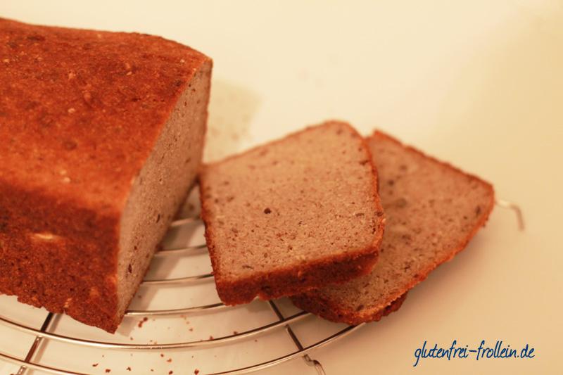 glutenfreies Brot mit Sauerteig in Scheiben