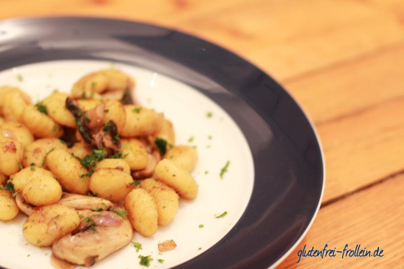 glutenfreie gnocchi pfanne mit pilzen