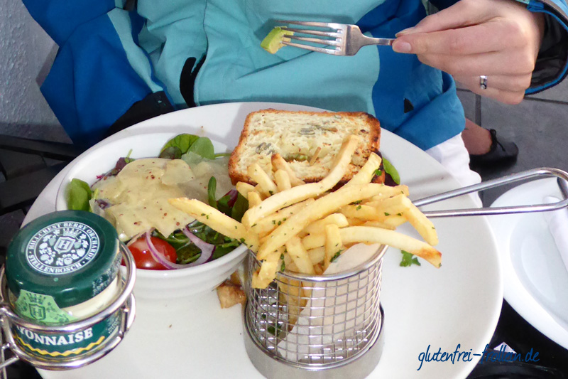glutenfreier Sandwich Twelve Apostels Kapstadt Südafrika