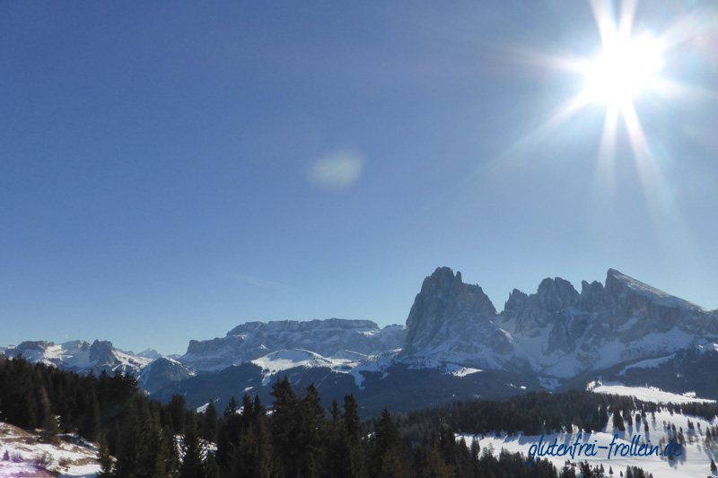 Skiurlaub Bergpanorama Seiseralm