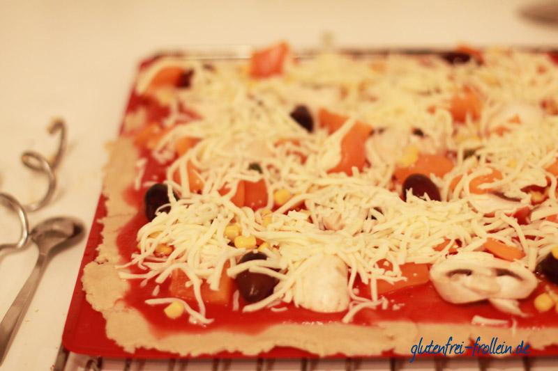 glutenfreie pizza vor dem backen