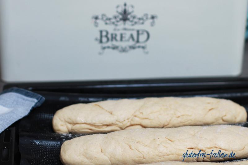 glutenfreies baguette vor dem backen