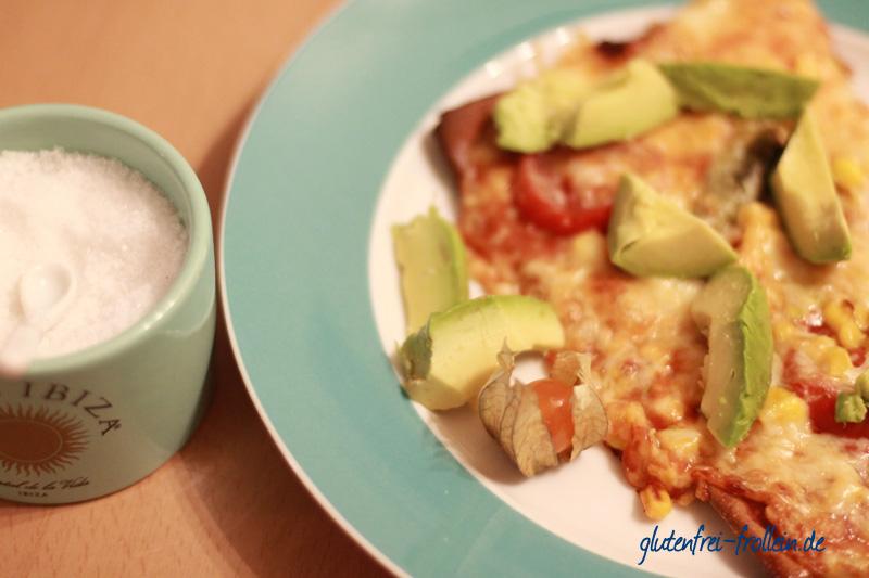 lizza glutenfreier Pizzaboden mit mexikanischem Belag