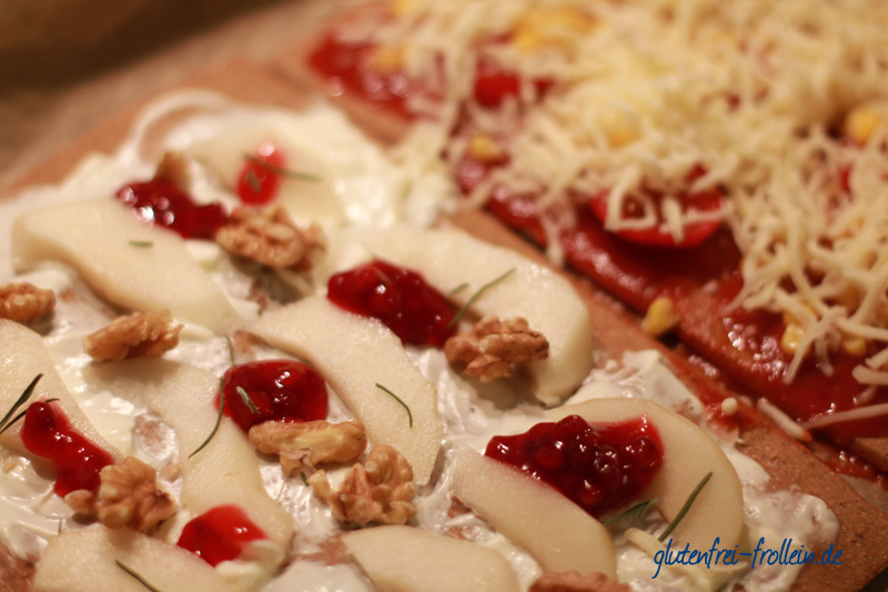lizza belegt vor dem Backen
