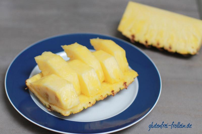 ananas geschnitten zum snacken