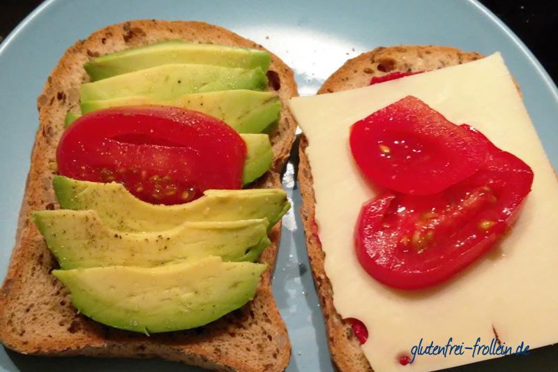 glutenfreies Frühstück - glutenfreier Toast mit Avocado
