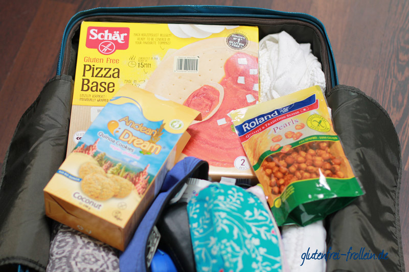 Koffer mit glutenfreier Verpflegung