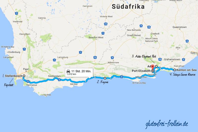 Garden Route Südafrika Karte