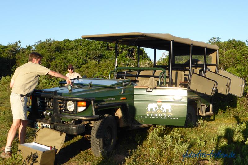 Sibuya Game Reserve Jeep