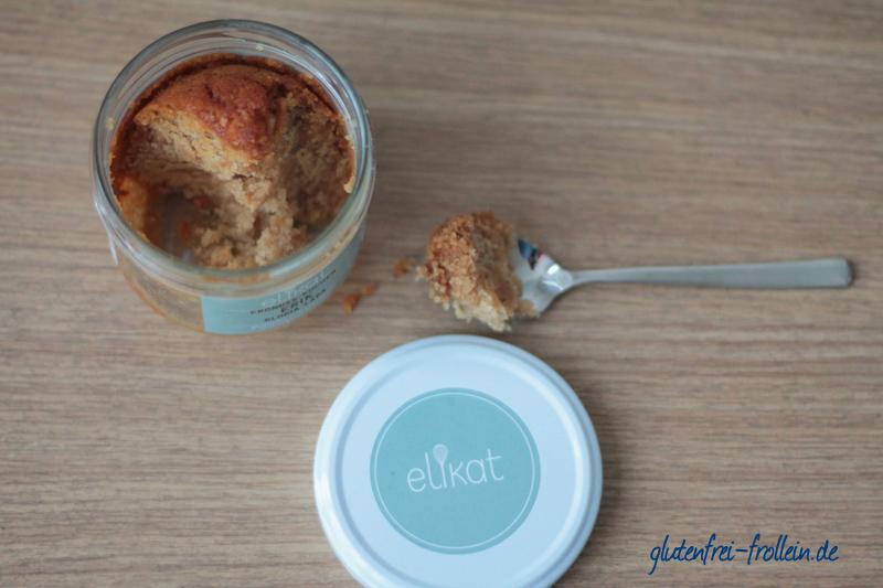 elikat glutenfreie Kuchen im Glas
