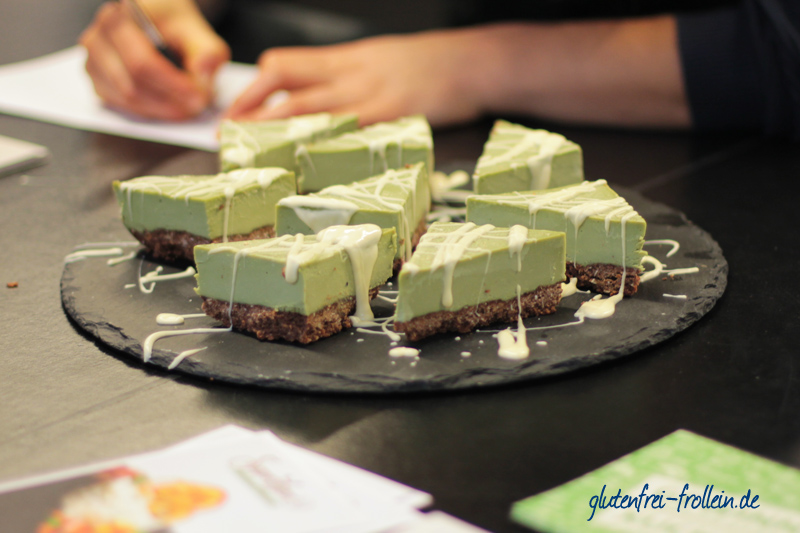 Matcha Cake auf dem Free From Fstival in Berlin