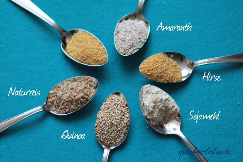 glutenfreies Getreide_verschiedene Sorten beschriftet