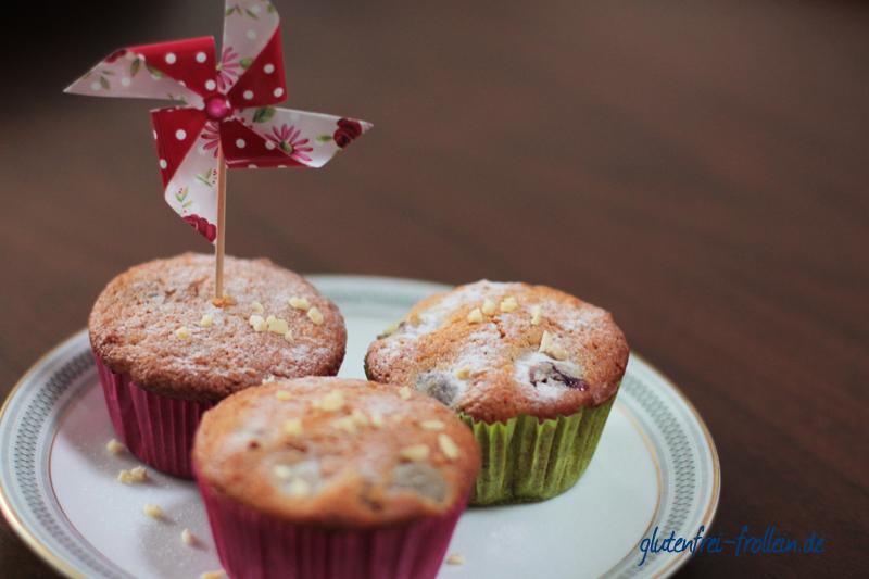 glutenfreie muffins rezept mit joghurt und kirschen