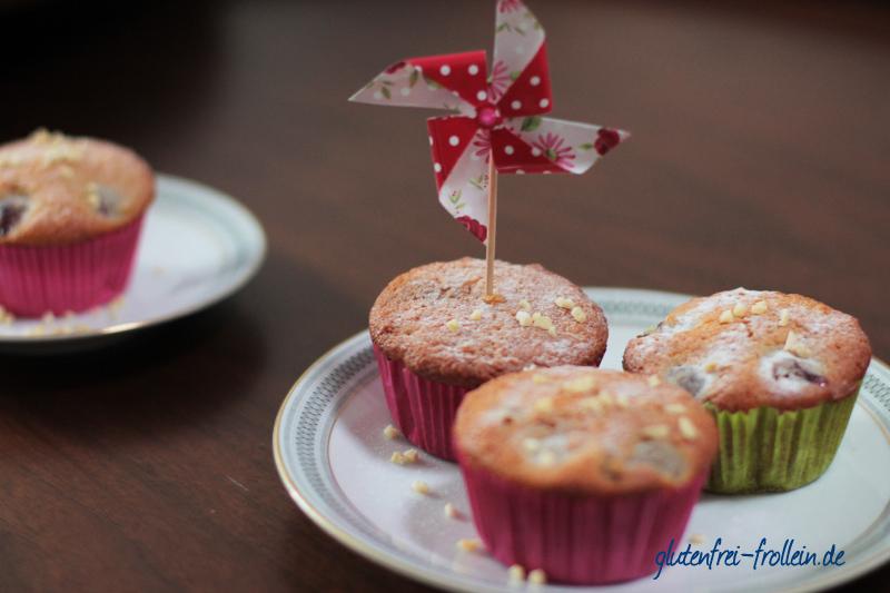 glutenfreie muffins rezept mit kirschen und joghurt