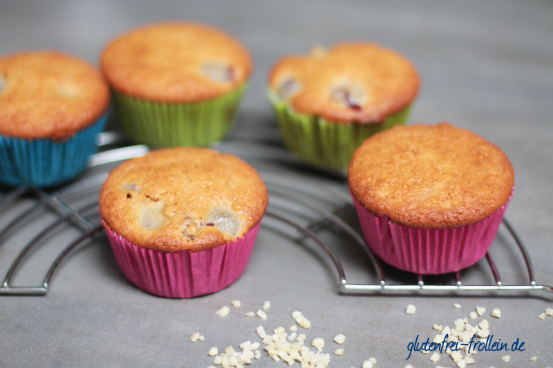 glutenfreie und laktosefreie Muffins mit Kirschen