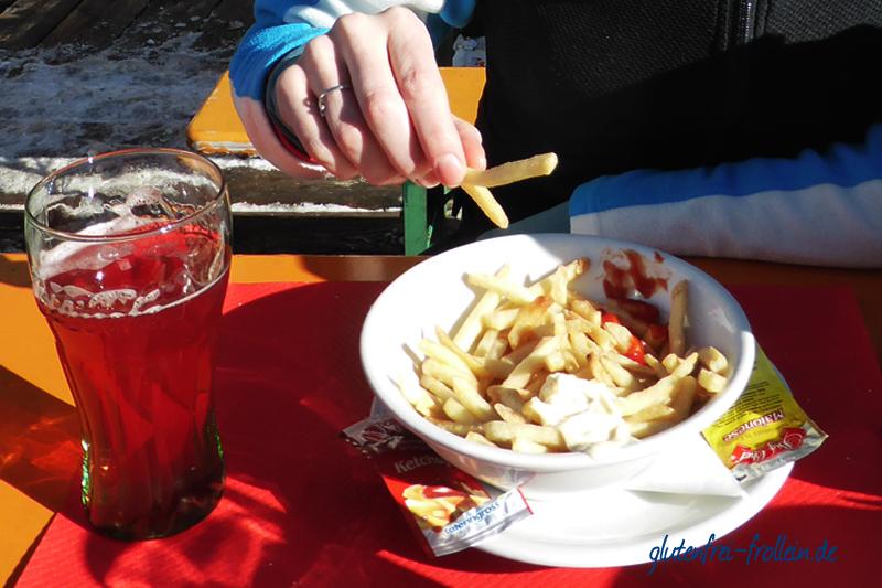 glutenfrei skifahren_skihuette pommes