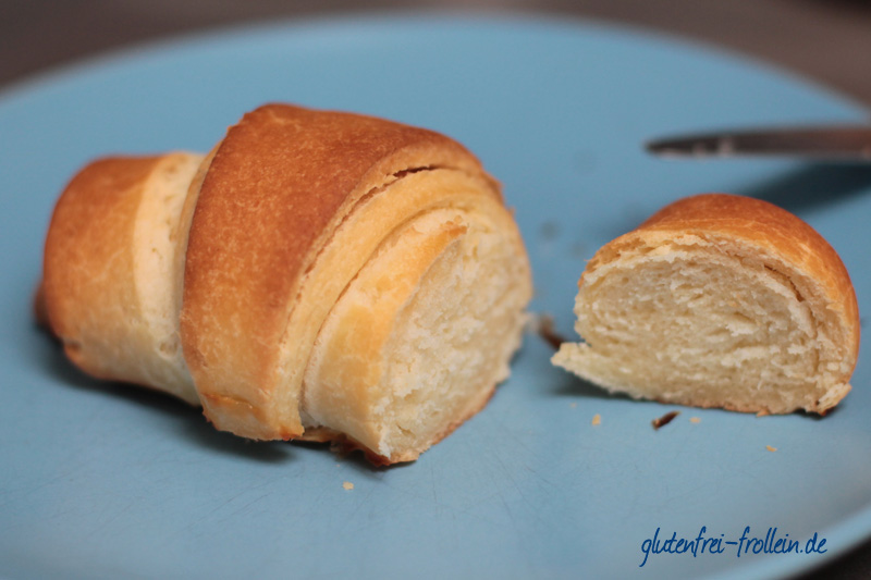 Family glutenfrei_glutenfreies Croissant_nah