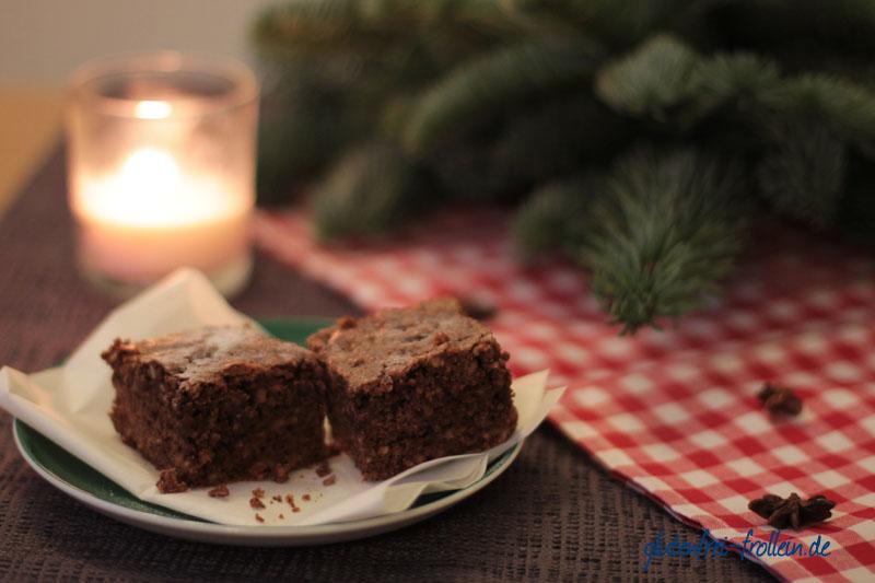 glutenfreie Lebkuchen Brownies_nah