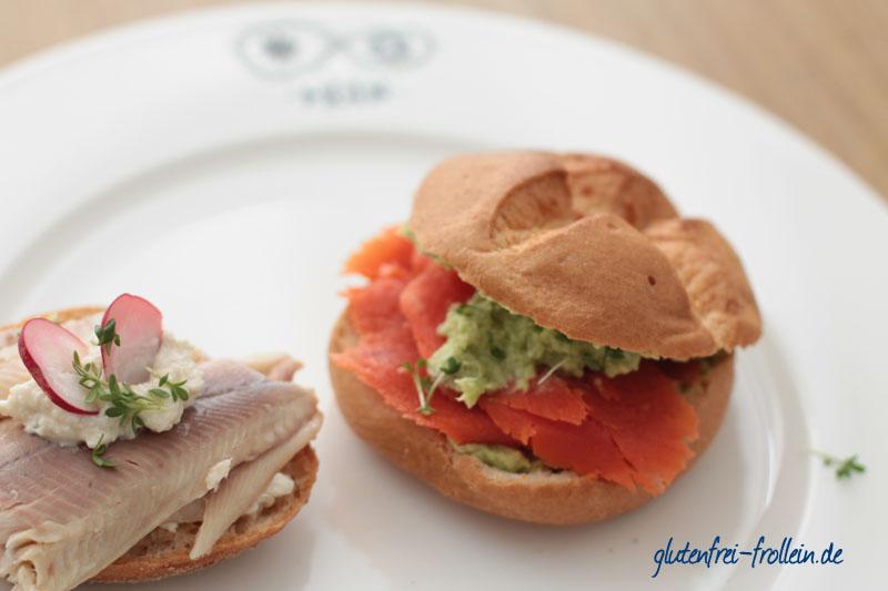 glutenfreie Fischbrötchen_Forelle und Lachs