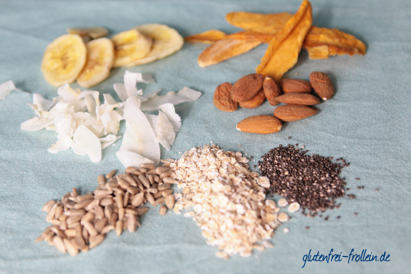 selbstgemachtes glutenfreies Karibik Müsli Zutaten