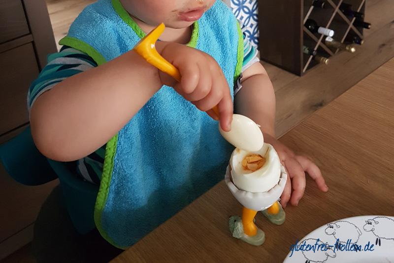 glutenfrei mit Kind Ei essen