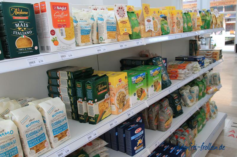 glutenfreier Supermarkt in Lanusei auf Sardinien