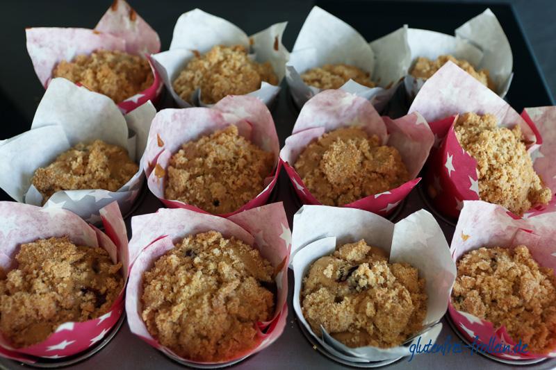 glutenfreie Kirsch Muffins_auf dem Blech