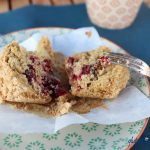 glutenfreie Kirsch-Muffins mit Streuseln