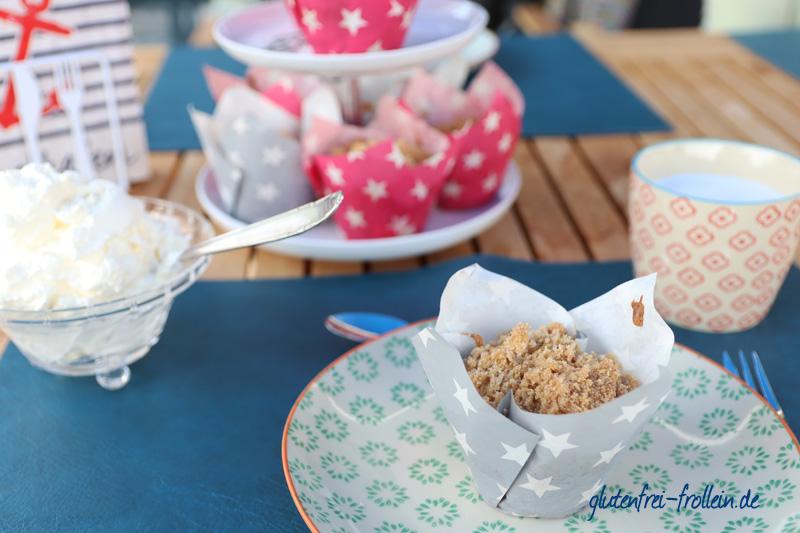 glutenfreie Kirsch Muffins_auf dem Teller