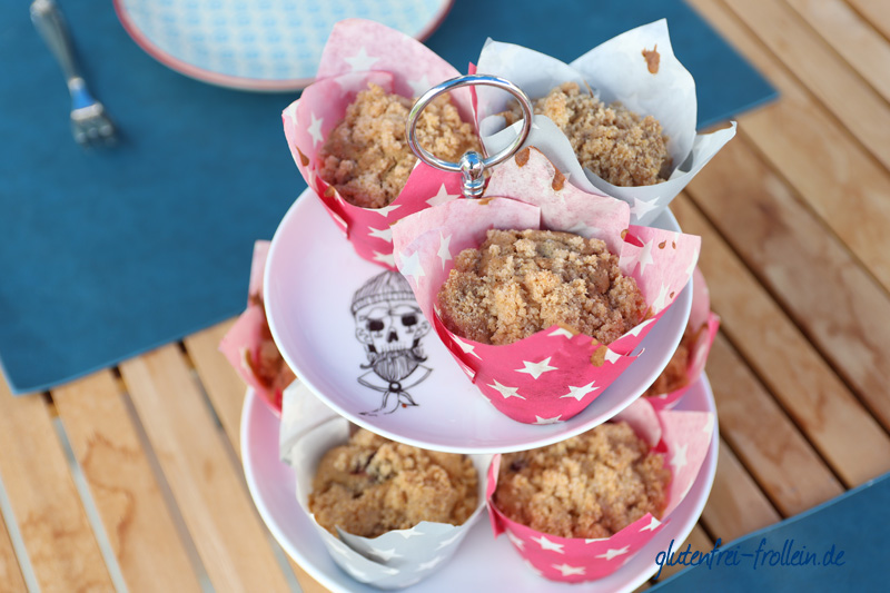 glutenfreie Kirsch Muffins_auf der Etagere