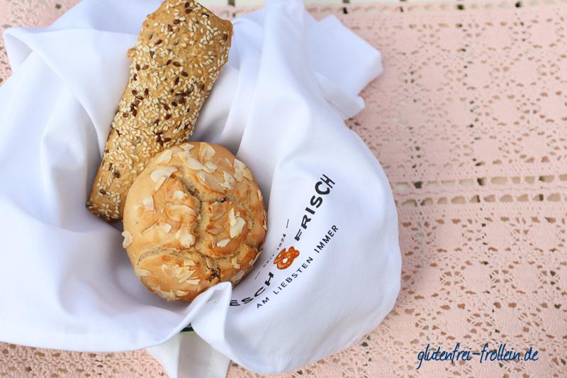 glutenfreie Backwaren von Resch&Frisch im Brotkorb